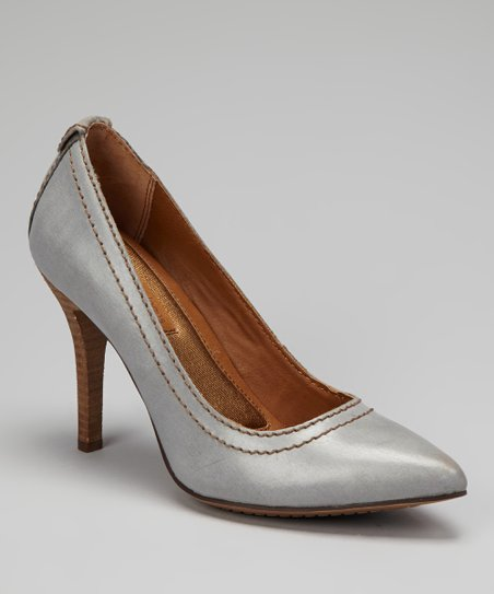 Gray Burnished Maiya Pump