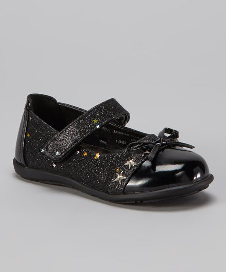 Black Glitter Patent Mary Jane