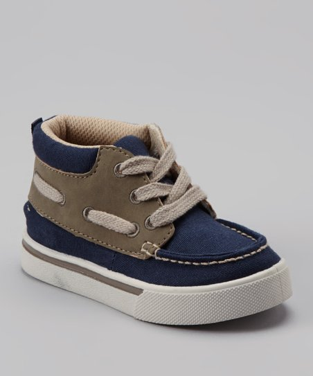 Navy & Tan Fruko Shoe