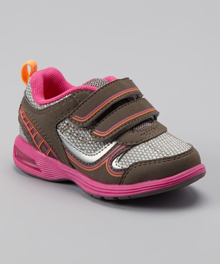 Gray & Pink Light-Up Relay Sneaker