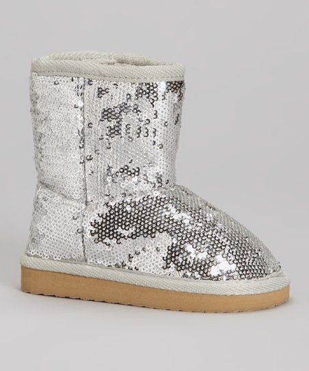 Silver Sequin Dazzle Boot
