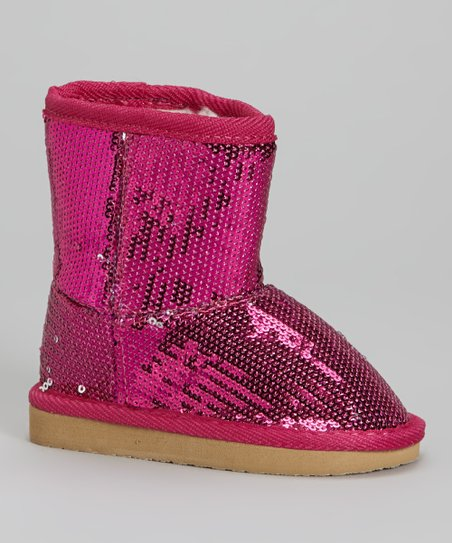Fuchsia Sequin Dazzle Boot