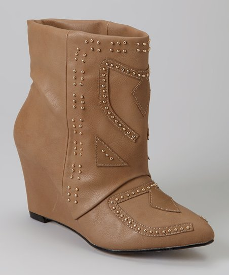 Taupe Aurelle Wedge Boot