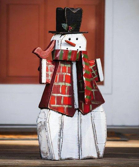 Cheerful Snowman Statue