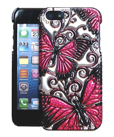 Pink Butterflies Case for iPhone 5