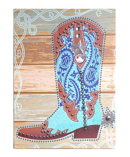 Blue Cowboy Boot Wall Art