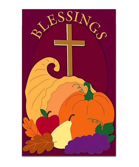 'Blessings' Cornucopia Flag
