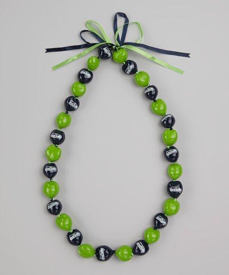 Seattle Seahawks Kukui Nut Necklace