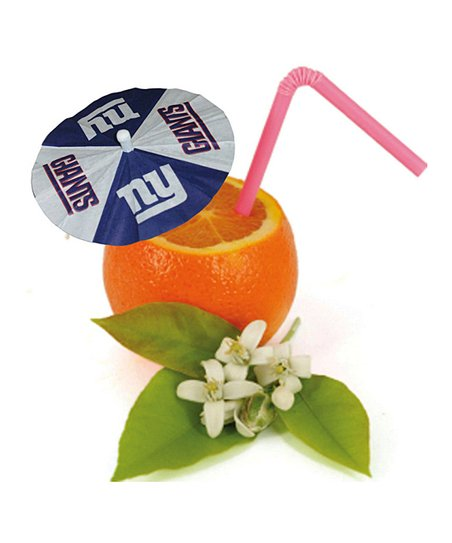 New York Giants Paper Drink Umbrella Set