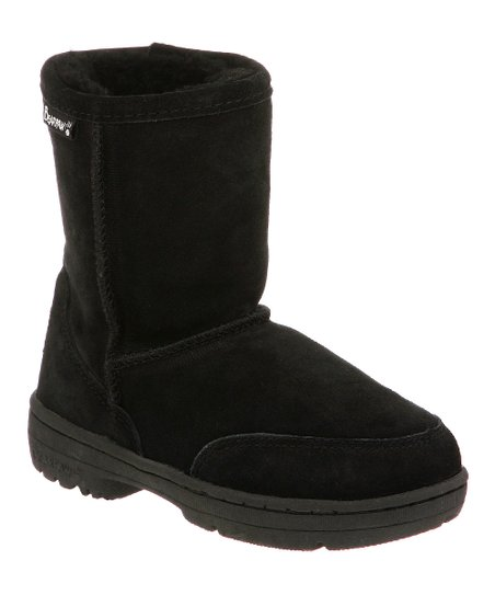 Black Suede Meadow Boot - Kids
