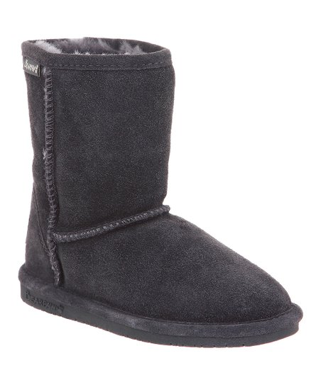 Charcoal Suede Emma Boot - Kids