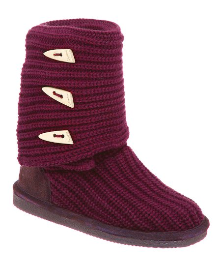 Pom Berry Knit Tall Boot - Women