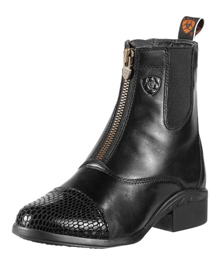 Black Leather Heritage Paddock Boot - Women