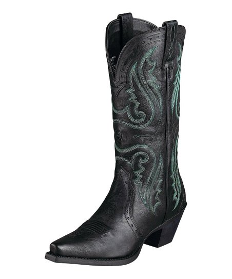 Vintage Black Heritage Western X-Toe Boot - Women