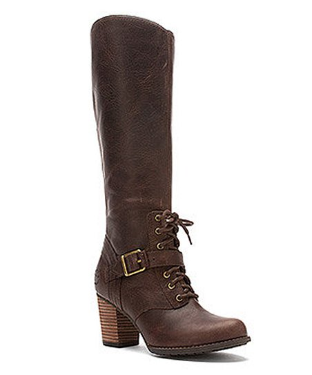 Dark Brown Tall Side-Zip Boot