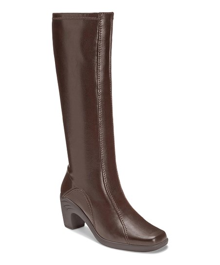 Brown Sawu Wide-Calf Boot