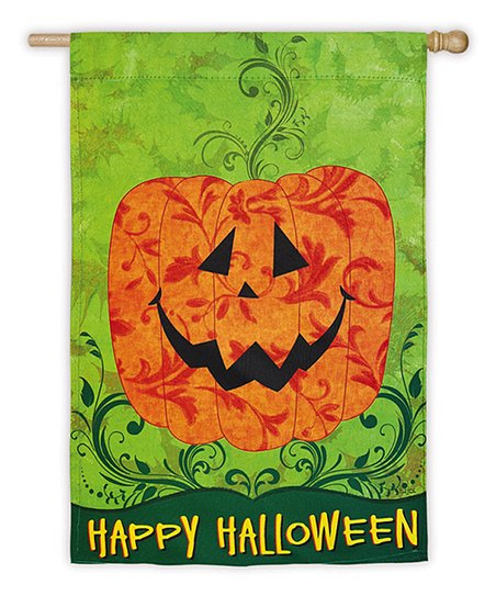 'Happy Halloween' Jack-o'-Lantern Flag