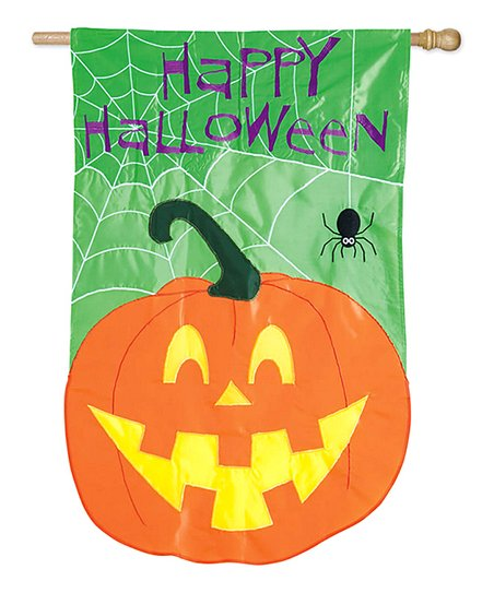 'Happy Halloween' Pumpkin Flag