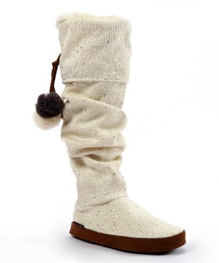 Ivory Winona Sequin Slipper Boot - Women