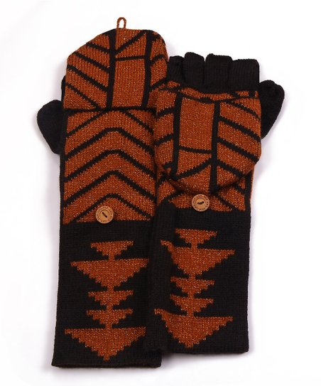 Black North American Convertible Mittens - Women