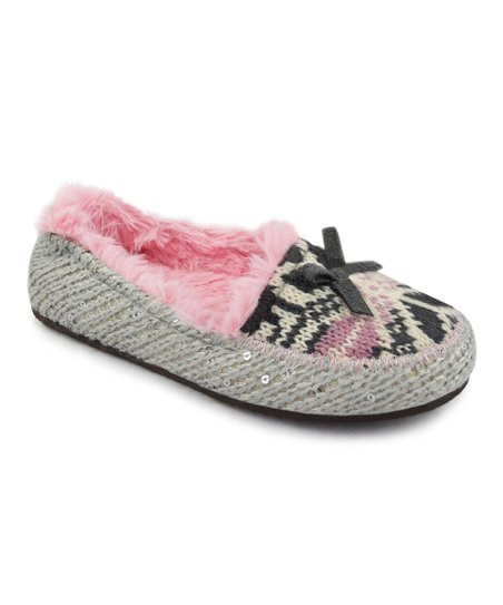 Silver & Gray Tobey Moccasin - Kids