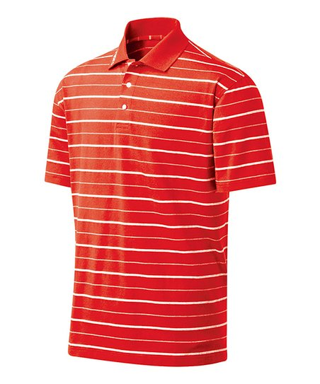 Red & White Piranha Polo - Men