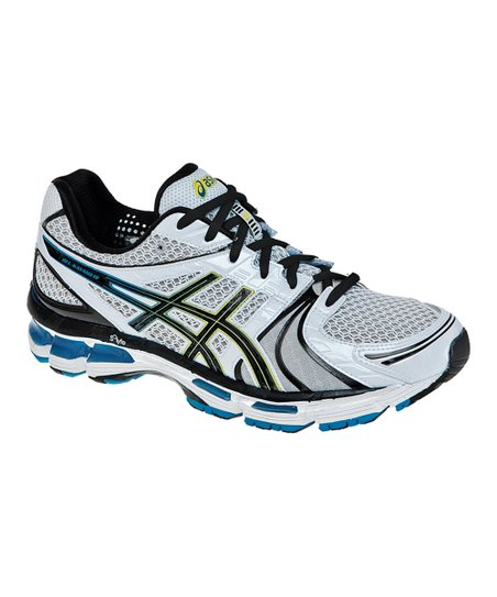 White & Hot Blue GEL®-Kayano 18 Running Shoe - Men