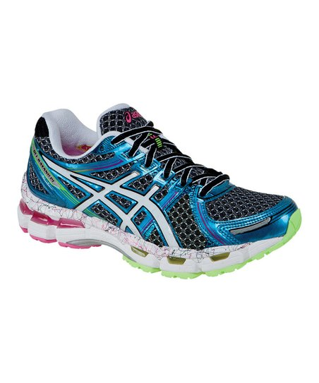 Black & Flash Pink GEL®-Kayano 19 Running Shoe - Women