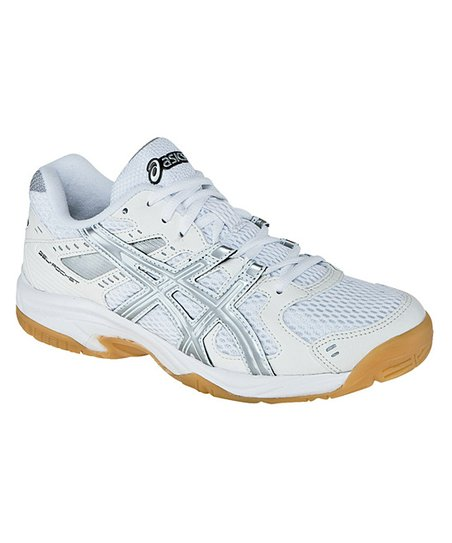 White & Silver JR Rocket GS Volleyball Shoe