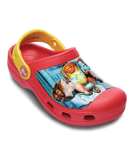 Red & Canary Marvel® Avengers™ II Creative Crocs™ Clog