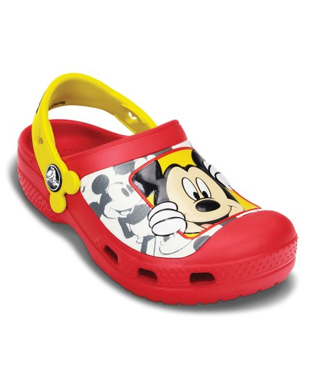 Red & Yellow Creative Crocs Mickey™ Peek-a-Boo Clog