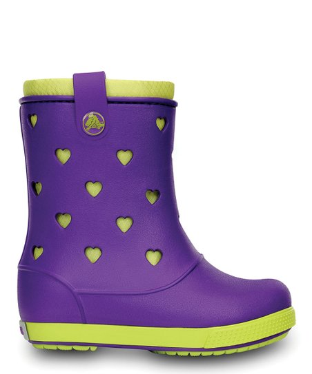 Neon Purple & Citrus Crocband™ Airy Hearts Boot