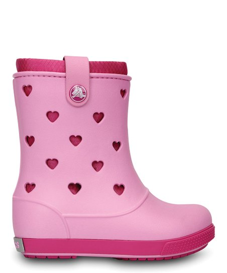 Carnation & Fuchsia Crocband™ Airy Hearts Boot