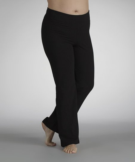 Black Tummy Control Pants - Plus