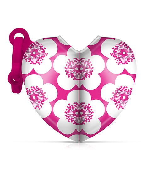 Pink Floral Heart Bag Dispenser