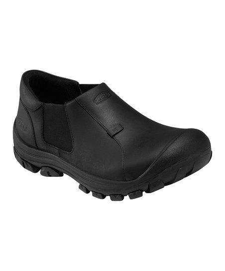 Black Ontario Leather Slip-On Shoe - Men