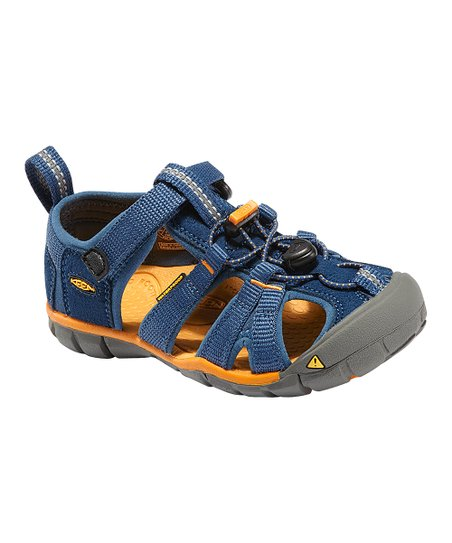 Ensign Blue & Apricot Seacamp CNX Closed-Toe Sandal - Kids
