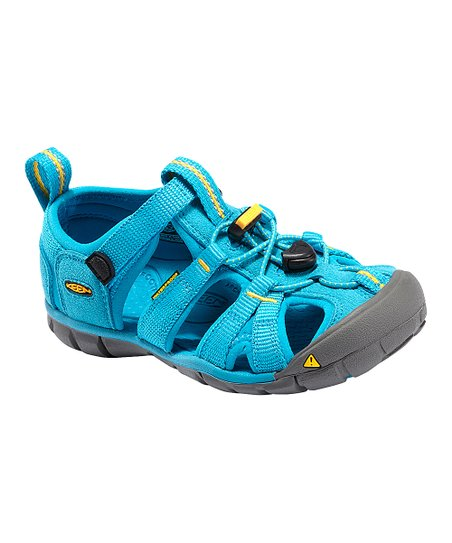 Vivid Blue & Yellow Seacamp Closed-Toe Sandal - Kids