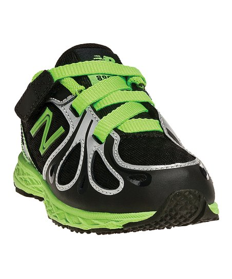 Black & Neon Green Lace-Up KV890 Running Shoe
