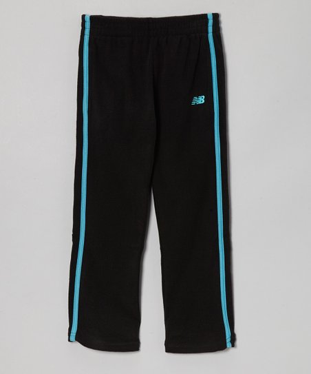 Black & Turquoise Track Pants - Toddler & Girls