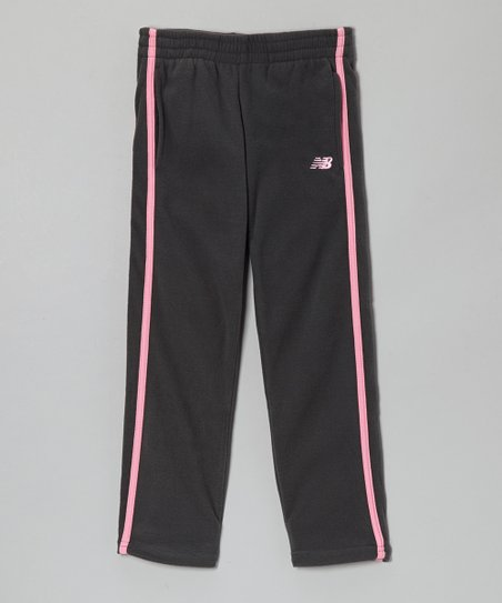 Charcoal & Pink Track Pants - Toddler & Girls