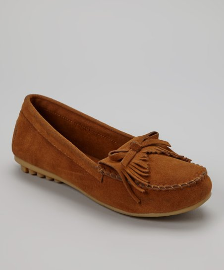 Tan Fringe Moccasin