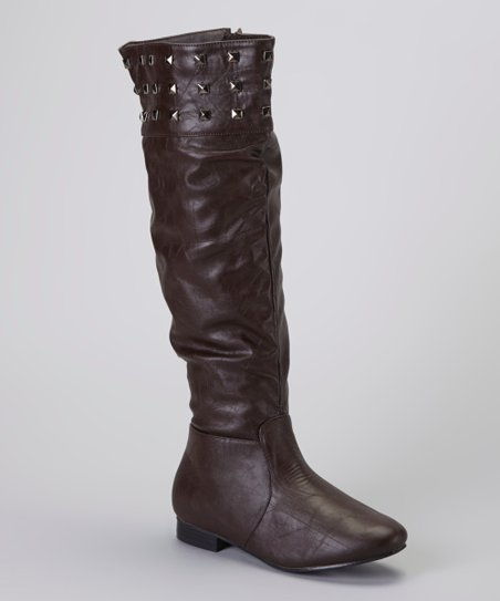 Brown Studded Boot