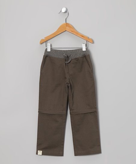 Brown Convertible Pants - Toddler & Kids