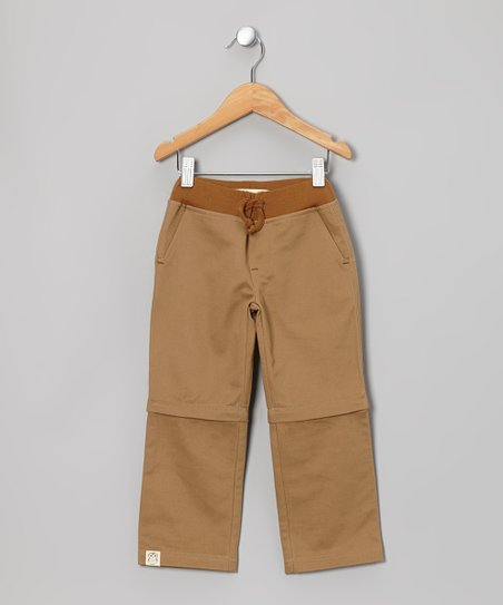 Tan Convertible Pants - Toddler & Kids
