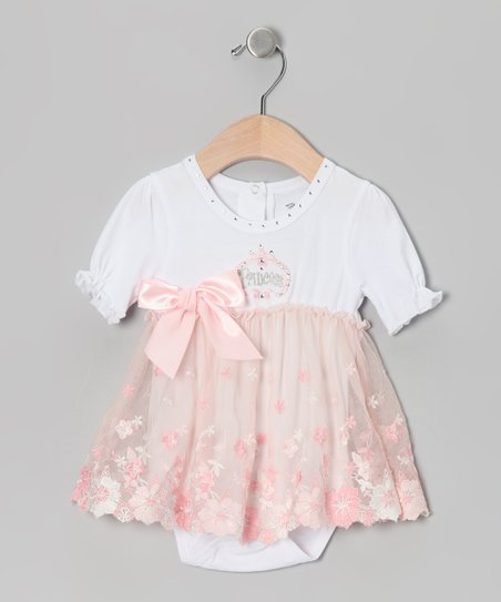 Peach 'Princess' Skirted Bodysuit