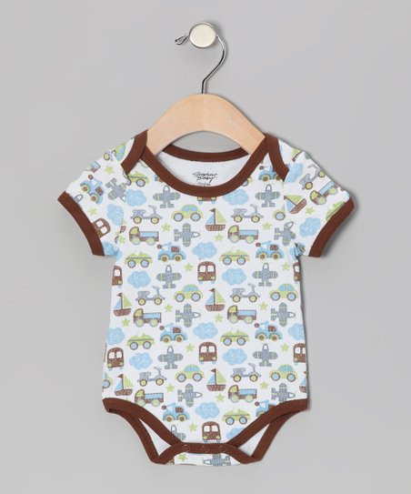 Brown Transportation Bodysuit