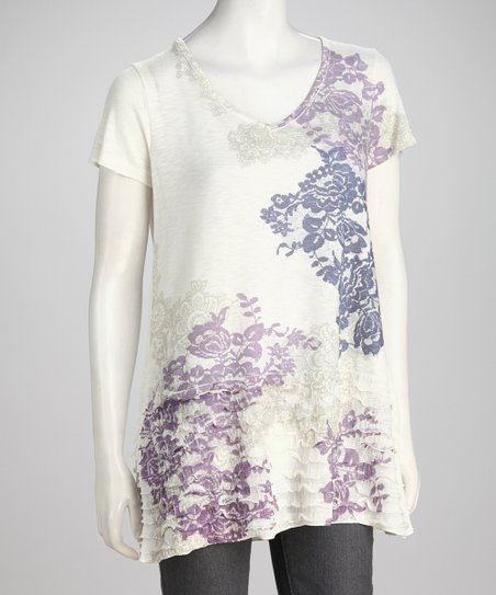 Ivory Floral Tunic