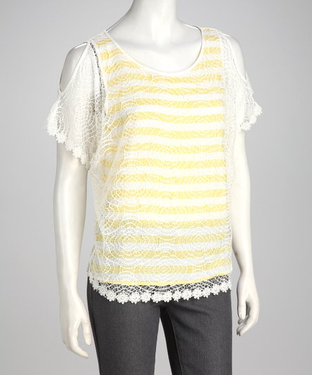 Yellow Stripe Top