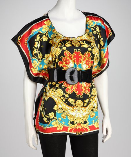 Black Eastern Belted Tunic